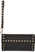 Valentino Black Rockstud Flap Wallet
