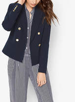 Michael Kors Double-Breasted Twill Blazer