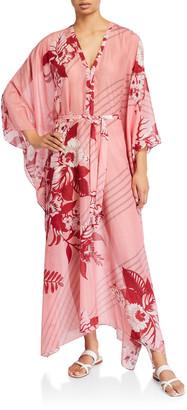 Etro Jasmine Floral Print Cotton-Silk Dress