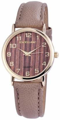 Excellanc Womens Analogue Quartz Watch with Leather Strap 1.95008E+11