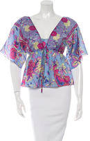 Tibi Silk Printed Blouse