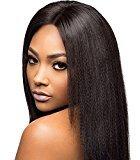 Cara Italian Yaki Glueless Lace Front Human Hair Wigs Brazilian Virgin Hair Yaki Straight Full Lace Human Hair Wigs For Black Women (22inch, lace front)