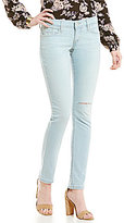 Levi's 524 Low-Rise Distressed Skinny Jeans
