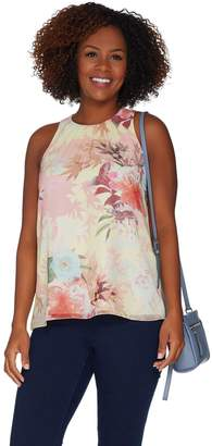 Vince Camuto Faded Blooms Woven Sleeveless Blouse