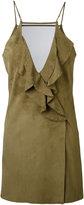 Jitrois ruffled dress - women - Lamb Skin/Cotton/Spandex/Elastane/Polyester - 38