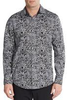 Saks Fifth Avenue Regular-Fit Paisley-Print Cotton Sportshirt