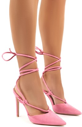 Public Desire Bardot Strappy Lace Up High Heel
