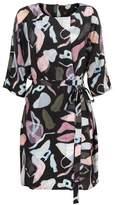 Oliver Bonas Clay Print Wrap Tunic Dress