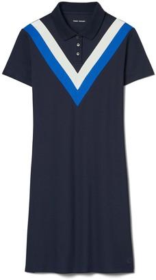 Tory Burch Performance Pique Chevron Polo Dress