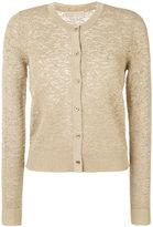 MICHAEL Michael Kors metallic jacquard cardigan - women - Nylon/Polyester/Viscose/Metallic Fibre - L