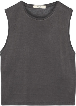 Alice + Olivia Cotton And Modal-blend Tank
