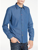 Ps By Paul Smith Lightweight Denim Long Sleeve Shirt, Blue