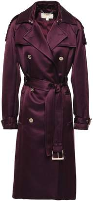 MICHAEL Michael Kors Double-breasted Duchesse Satin Trench Coat