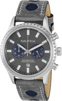 Nautica Men's NAD18511G Suede Quartz Watch