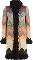 Missoni Wool Coat with Statement Collar and Trim