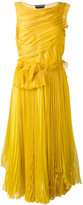 Rochas pleats dress - women - Silk - 42
