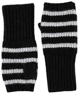 Cashmere & Spun 100% Cashmere women's striped fingerless glove