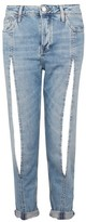 Topshop MOTO Bleach Split Front Hayden Boyfriend Jeans