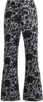 Erdem Eda floral-jacquard flared trousers