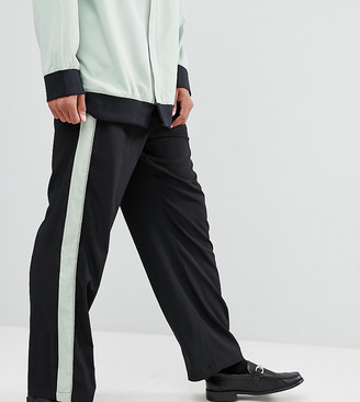 Sacred Hawk joggers with side stripe