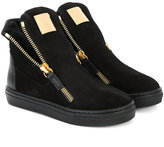 Giuseppe Junior zip detail sneakers