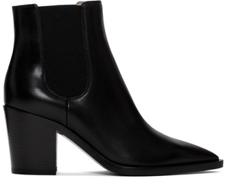Gianvito Rossi Black Romney Boots