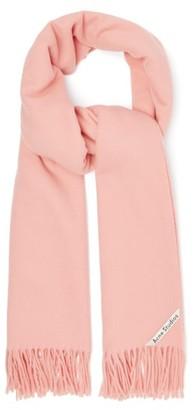 Acne Studios Canada Wool Scarf - Womens - Pink