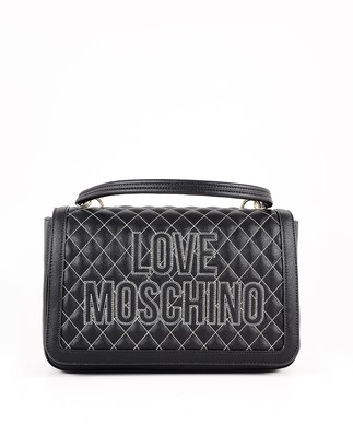 Love Moschino Black Quilted Eco-Leather Shoulder Bag