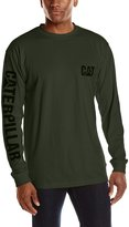 Caterpillar Men's Big-Tall Trademark Banner Long Sleeve Tee, Dark Heather Grey, 3X-Large