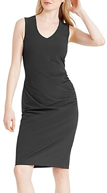 Nic+Zoe Tech Stretch Ruched Sheath Dress