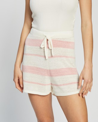 Atmos & Here Atmos&Here - Women's Pink High-Waisted - Positano Knit Shorts - Size S at The Iconic