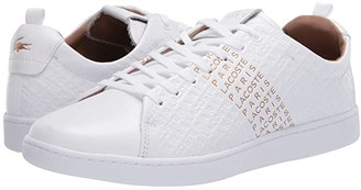 Lacoste Carnaby Evo 120 6 US (Black/Gold) Men's Shoes