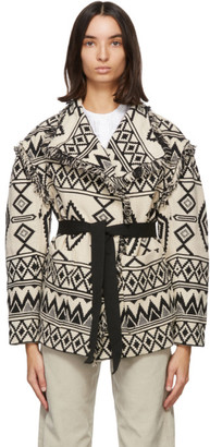 Etoile Isabel Marant Off-White and Black Josiali Jacket