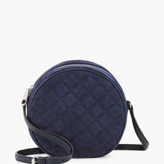 Talbots Round Quilted Suede Crossbody Bag
