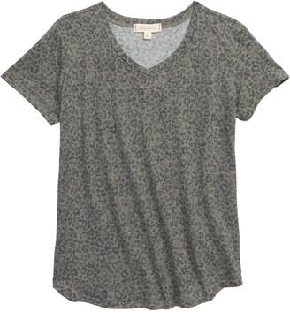 Walking on Sunshine Print V-Neck T-Shirt