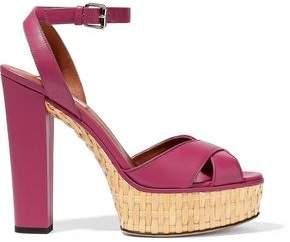 Valentino Garavani Leather Platform Sandals