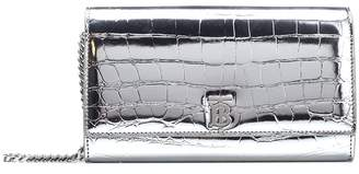 Burberry Embossed Chain Strap Clutch Bag