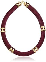 Lizzie Fortunato Gold-Plated Double Take Necklace in Wine of 19.5cm
