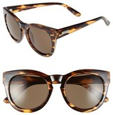 Le Specs Women's 'Jealous Games' 52Mm Cat Eye Sunglasses - Streaky Tortoise