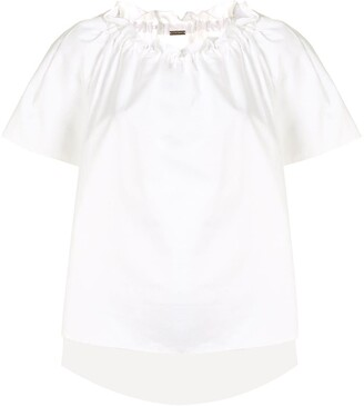 Adam Lippes shirred neck T-shirt