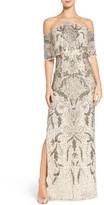 Aidan Mattox Women's Embellished Mesh Gown
