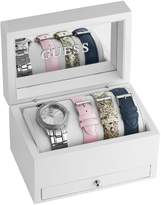 GUESS Silver-Tone Classic Sparkle Watch Set