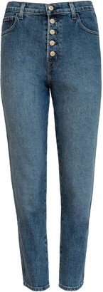 J Brand Heather High Rise Button Fly