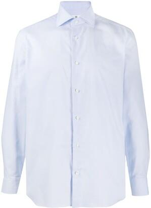 Borrelli Spread Collar Pique Shirt