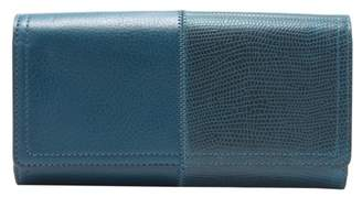 Fossil Logan Rfid Flap Clutch Wallet Twilight
