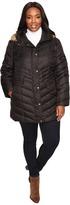 Andrew Marc Plus Size Renee Chevron Down Coat