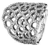 Pandora Shimmering Lace Silver Cz Ring.