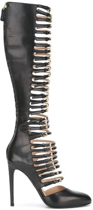 Giambattista Valli buckled straps knee-high boots