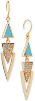 Vera Bradley Gold-Tone Pavé & Blue Stone Drop Earrings
