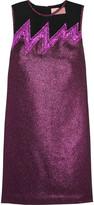 Christopher Kane Tulle-paneled lamé mini dress